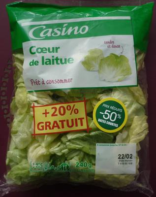 Cœur de laitue, Prêt à consommer (4 à 5 portions) + 20 % Gratuit - Produit