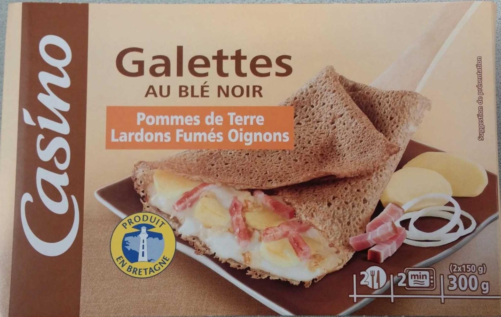 Galettes au Blé Noir, Pommes de Terre, Lardons Fumés, Oignons - Produit - fr