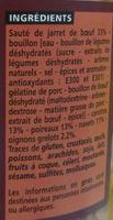 Pot-au-feu boeuf et légumes de jardin - Ingredients - fr