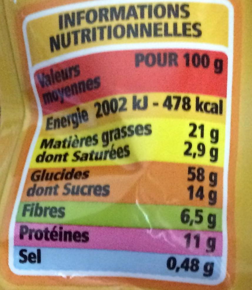 Muesli croustillant - Amandes, Noisettes, Noix de Pécan, Noix du Brésil - Informations nutritionnelles - fr