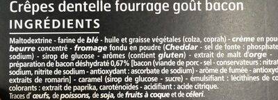 Crêpes dentelles fourrées bacon 65g CASINO DELICES - Ingrédients