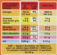 Muesli Croustillant Fruits rouges - Nutrition facts