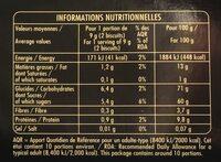 Croquant de Cordes aux Éclats d'Amandes - Informations nutritionnelles - fr