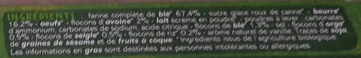 Petit beurre 5 céréales Bio - Ingredients