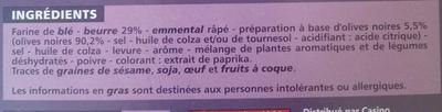 Palmiers aux olives noires - Ingredients