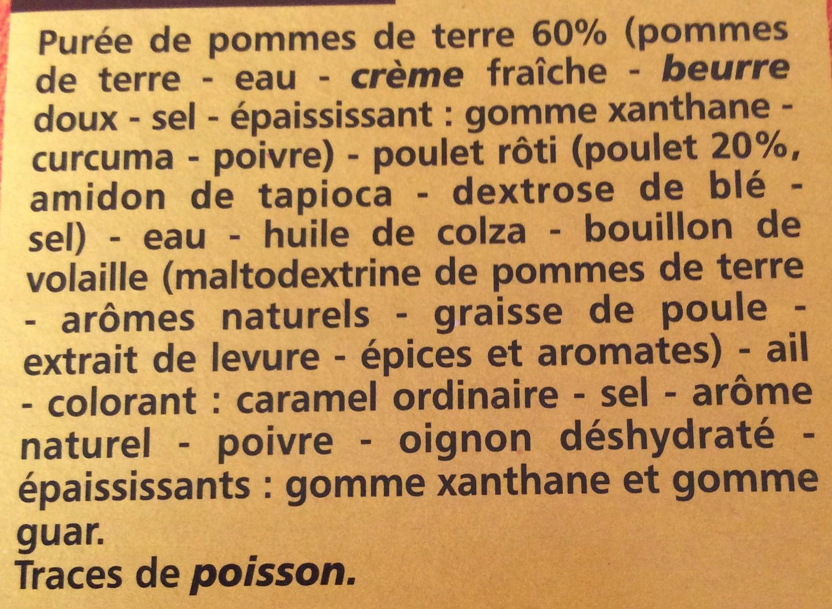 Poulet rôti et sa purée à l'ancienne - Ingrédients