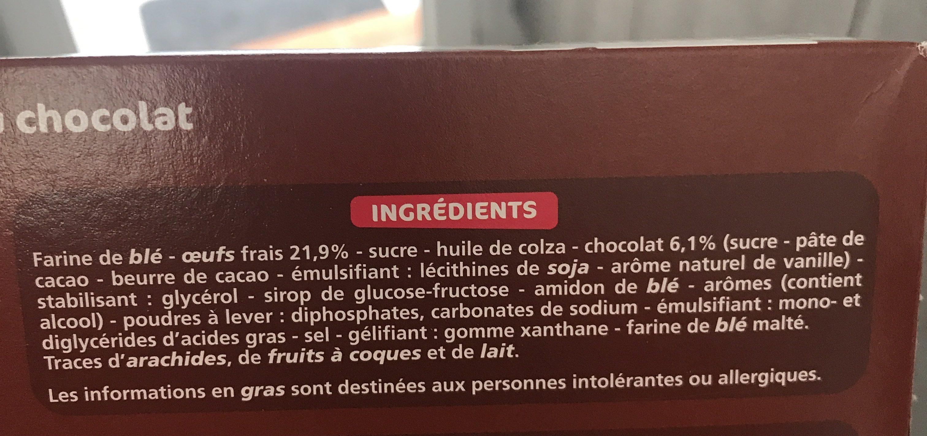 Mini marbrés choco - Ingrédients - fr