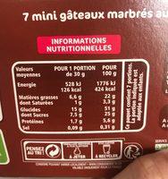 Mini marbrés choco - Informations nutritionnelles - fr