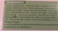Brownie familial noisettes - Ingrediënten - fr