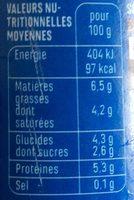 Yaourt au lait de brebis nature - Nutrition facts