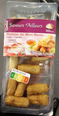 Plateau de mini nems 7 minis nems au porc 7 mini nems au poulet Sauce nuoc-mam - Produit
