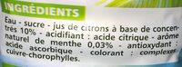 Boisson façon Mojito - Ingrédients - fr