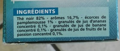 Thé exotique - Ingredients