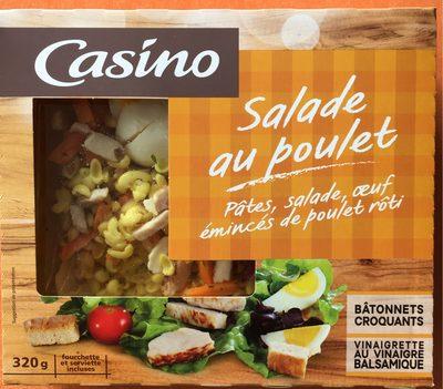 Salade au poulet : pâtes, salade, œuf,émincés de poulet rôti - 3