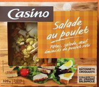 Salade au poulet : pâtes, salade, œuf,émincés de poulet rôti - Product