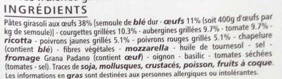 Girasoli légumes grillés - Ingrédients