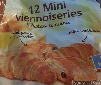 12 mini viennoiseries : mini croissants et mini pains au chocolat pur beurre - prêts à cuire - Product - fr