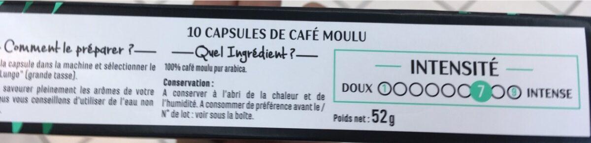 Capsules de café - Lungo - Ingredients