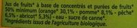 Nectar Orange Pêche Abricot - Ingrediënten - fr