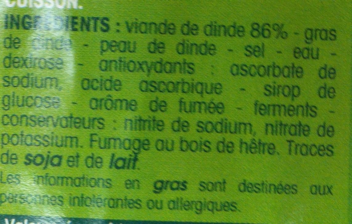 lardons de volaille fumés - Ingrédients - fr