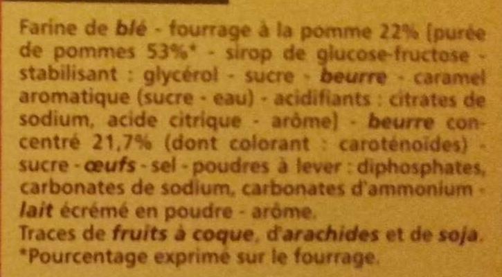 Sablés coeur saveur pomme façon tatin - Ingrédients - fr