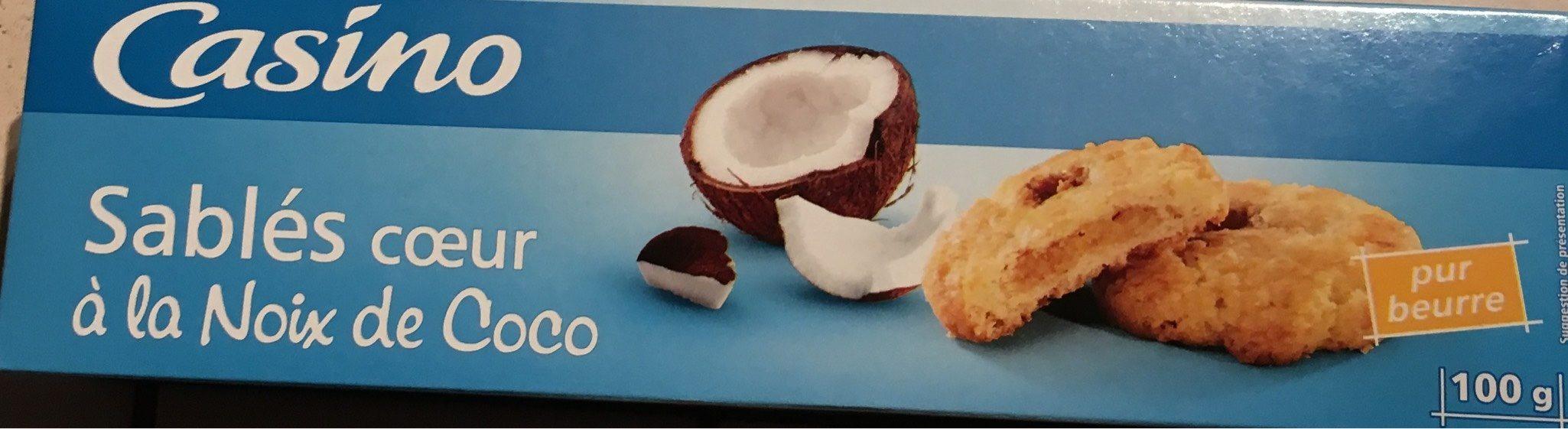 Sablés coeur saveur noix de coco - Produit - fr