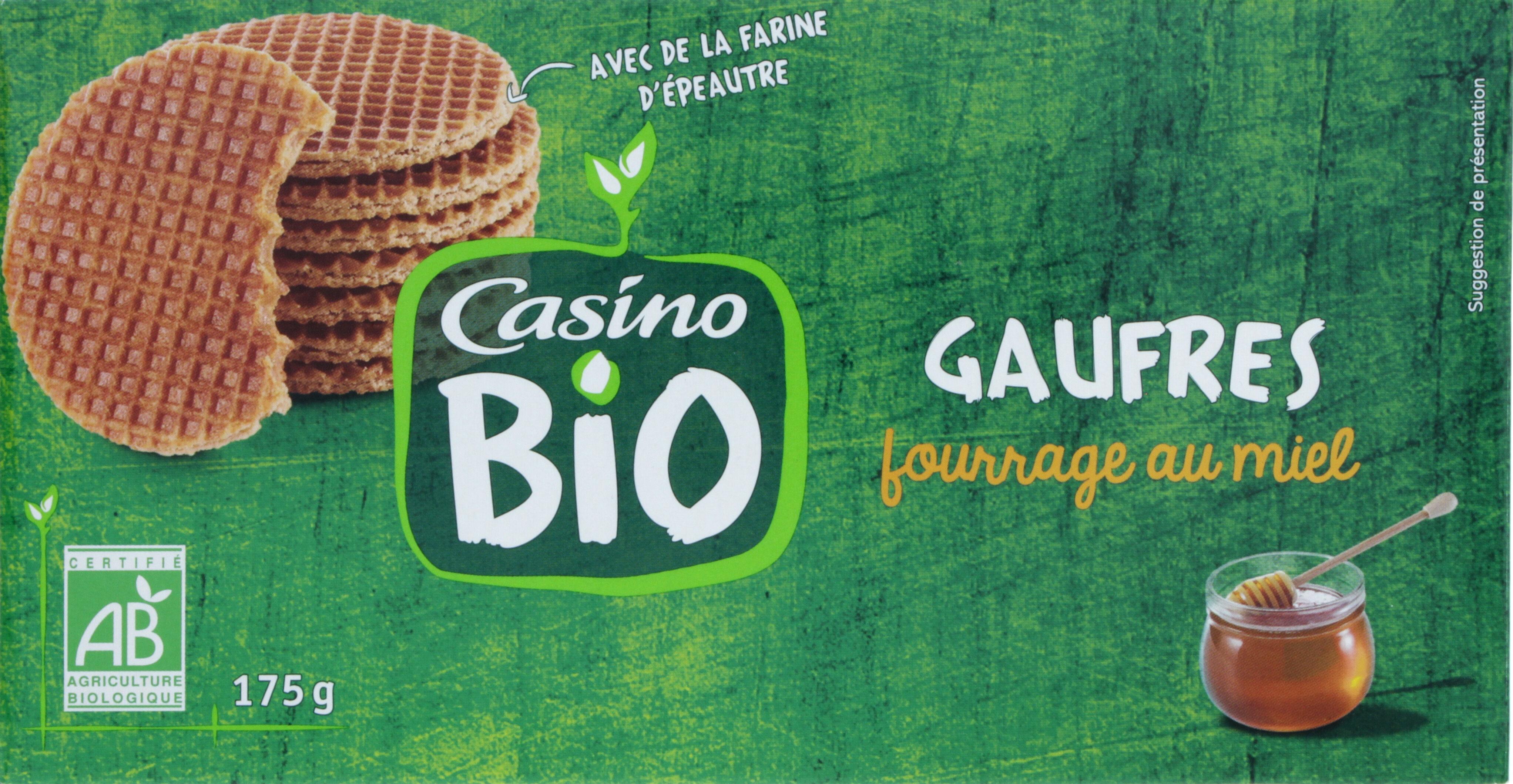 Gaufres fourrage au miel BIO - Prodotto - fr