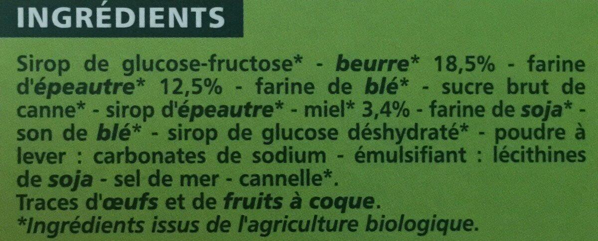 Gaufres fourrage au miel BIO - Ingredienti - fr