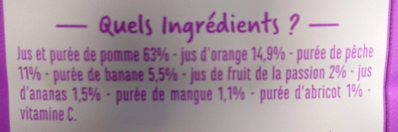 100% Pur Jus Multifruits - Ingrédients - fr