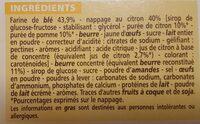 Tartelettes saveur citron - Ingrédients - fr