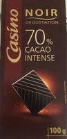 Noir 70% cacao intense - Produit