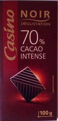 Chocolat Noir Dégustation 70% Cacao intense - Produit