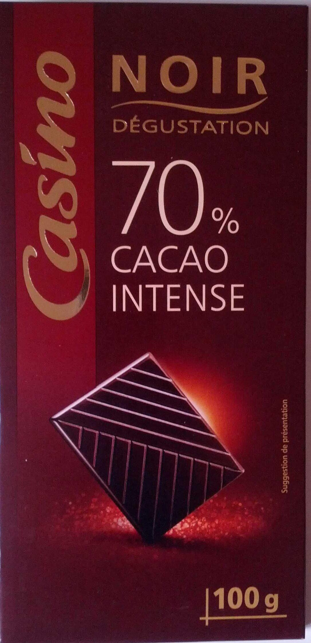 Chocolat Noir Dégustation 70% Cacao intense - Produit - fr