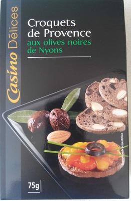 Croquets de Provence aux olives noires de Nyons - Product