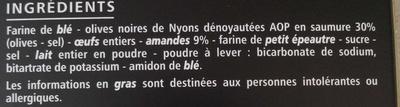 Croquets de Provence aux olives noires de Nyons - Ingredients