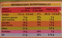 Lasagnes Bolognaise - Informazioni nutrizionali - fr