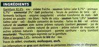 Lasagnes Saumon Poireaux - Ingrediënten - fr