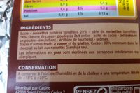 Lait Gianduja noisettes entières - Ingredients