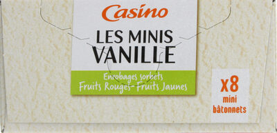 Les minis Vanille enrobage sorbets fruits rouges-fruits jaunes x8 - Product