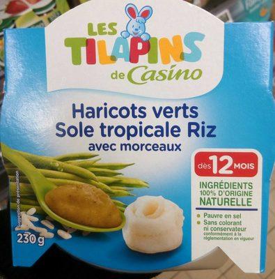 Haricots verts Sole tropicale Riz avec morceaux - Product