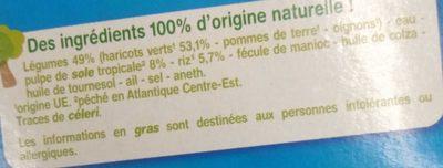 Haricots verts Sole tropicale Riz avec morceaux - Ingredients
