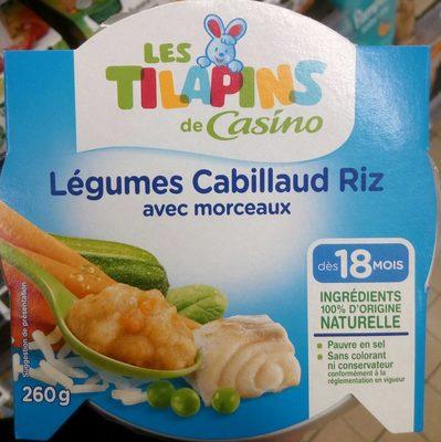 Légumes Cabillaud Riz avec morceaux - Product