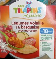 Légumes Volaille à la basquaise avec morceaux - Product - fr