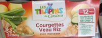 Courgettes Veau Riz avec morceaux - Produit - fr