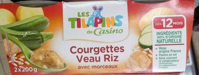 Courgettes Veau Riz avec morceaux - Product - fr