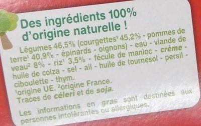 Courgettes Veau Riz avec morceaux - Ingrédients - fr
