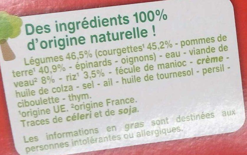 Courgettes Veau Riz avec morceaux - Ingrediënten - fr