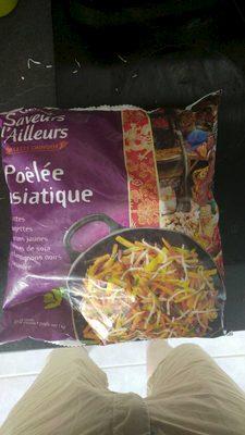 Poêlée asiatique (carottes, courgettes, poivrons jaunes, pousses de haricots mungo, champignons noirs, coriandre) - Produit - fr