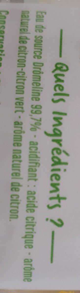 Eau aromatisé citron citron vert - Ingredients