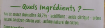 Eau aromatisé citron citron vert - Ingrediënten